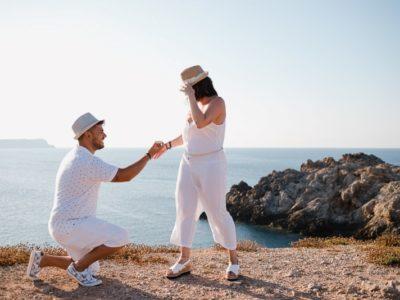 Pedida de mano sorpresa en Menorca